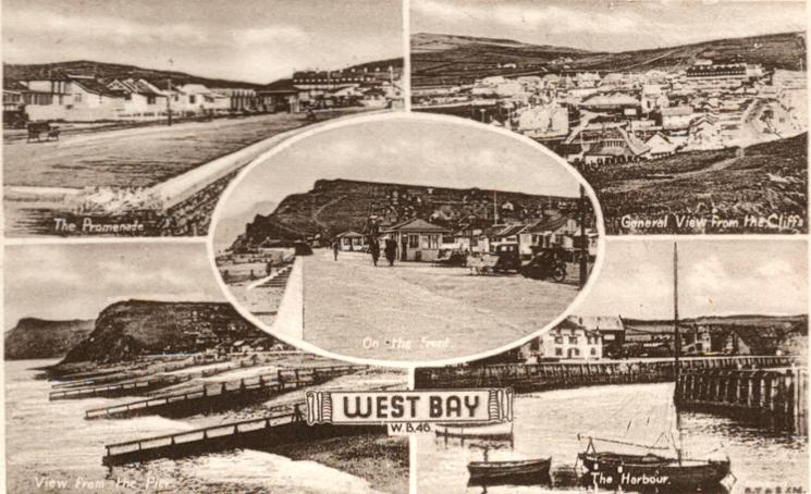 5 insets THE PROMENADE, GENERAL VIEW FROM THE CLIFFS, ON THE FRONT, VIEW FROM THE PIER, THE HARBOUR