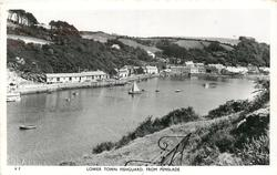 LOWER TOWN FISHGUARD, FROM PENSLADE