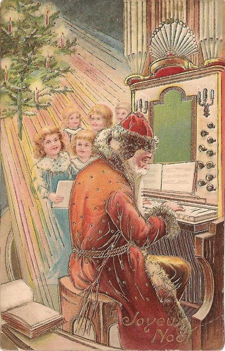 JOYEUX NOEL Santa plays organ