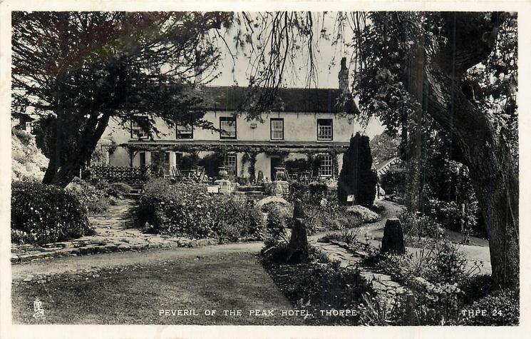 PEVERIL OF THE PEAK HOTEL  back view & garden
