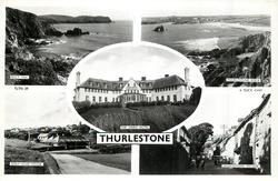 5 insets  BOLT TAIL/THURLESTONE ROCK/THE LINKS HOTEL/GOLF CLUB HOUSE/THURLESTONE VILLAGE