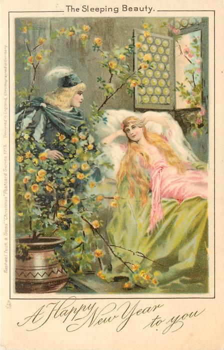 A HAPPY NEW YEAR TO YOU  THE SLEEPING BEAUTY  she wakes to see prince