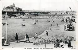 THE BOATING LAKE AND PIER