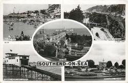 5 insets BOATING POOL/MOTOR SPEEDWAY/THE PIER/LIFEBOAT HOUSE AND SLIPWAY/PRITTLEWELL SQUARE