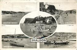 5 insets TEIGHMOUTH FROM THE NESS/THE PROMENADE/THE BEACH/SHALDON BRIDGE/THE FERRY