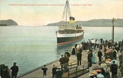 TURBINE STEAMER QUEEN ALEXANDRA APPROACHING CAMPBELTOWN PIER