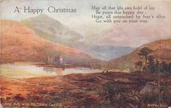 A HAPPY CHRISTMAS, verse, LOCH AWE WITH KILCHURN CASTLE