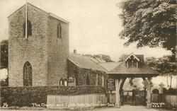 THE CHURCH AND LYTCH GATE, (Tuck error for LYCH GATE)