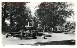 MANOR PARK  pond & fountain
