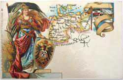 map, flag, crest & woman of Germany