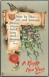 THINE BE ILKA JOY AND TREASURE, PEACE, ENJOYMENT, LOVE AND PLEASURE