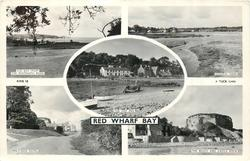 5 insets THE BAY FROM PENTRAETH ROAD/GENERAL VIEW/THE SHIP INN/MIN-Y-DON HOTEL/THE BEACH AND CASTLE ROCK