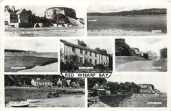 7 insets THE BEACH AND CASTLE ROCK/THE BAY/CASTLE ROCK/THE SHIP INN/MIN-Y-DON HOTEL/THE SHIP INN/CASTLE ROCK
