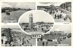 5 insets VORYD HARBOUR AND BRIDGE/PROMENADE/THE CLOCK TOWER PROMENADE/THE SANDS/PADDLING POOL AND PAVILION