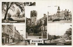 5 insets  CALDECOTE PARK/THE MARKET PLACE/THE HEADMASTER'S HOUSE/HIGH STREET/ CALDECOTT PARK