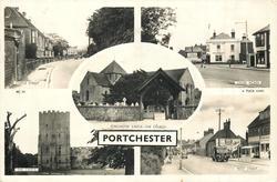 5 insets CASTLE STREET/CROSS ROADS/PORTCHESTER CASTLE- THE CHURCH/THE CASTLE/WEST STREET