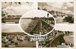 5 insets PRESTON PAIGNTON THE PUTTING GREEN/MARINE PARADE/THE PROMENADE/THE HARBOUR/THE CLIFFS, MARINE PARADE