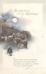 A PEACEFUL HAPPY BIRTHDAY pastoral scene