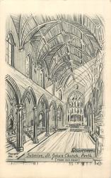 INTERIOR, ST. JOHN'S CHURCH, PERTH (FROM OLD PRINT)