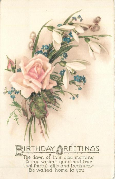 Birthday Greetings Mixed Flower Bouquet Tuckdb Postcards