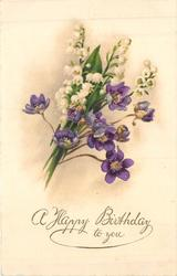 A HAPPY BIRTHDAY TO YOU mixed flower bouquet