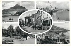 5 insets ST. MICHAEL'S MOUNT/THE PROMENADE/MARKET JEW STREET/MORRAB GARDENS/MOUSEHOLE