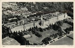 ROYAL VICTORIA HOSPITAL,  birds-eye view