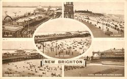 5 insets  THE PIER/THE BATTERY/PIER AND BEACH/PIER AND BEACH/FLORAL PAVILION AND VICTORIA GARDENS