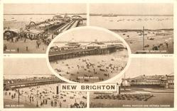 5 insets  THE PIER/CHILDREN'S BOATING LAKE/PIER AND BEACH/PIER AND BEACH/FLORAL PAVILION AND VICTORIA GARDENS