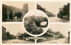 5 insets THE PARISH CHURCH/HIGH STREET (B)/ROMAN BRIDGE/HIGH STREET (A)/THE OLD FARMHOUSE