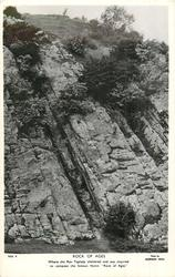 ROCK OF AGES, BURRINGTON COMBE,with or w/o WHERE THE REV. TOPLADY SHELTERED AND WAS INSPIRED TO COMPOSE THE FAMOUS HYMN ROCK OF AGES