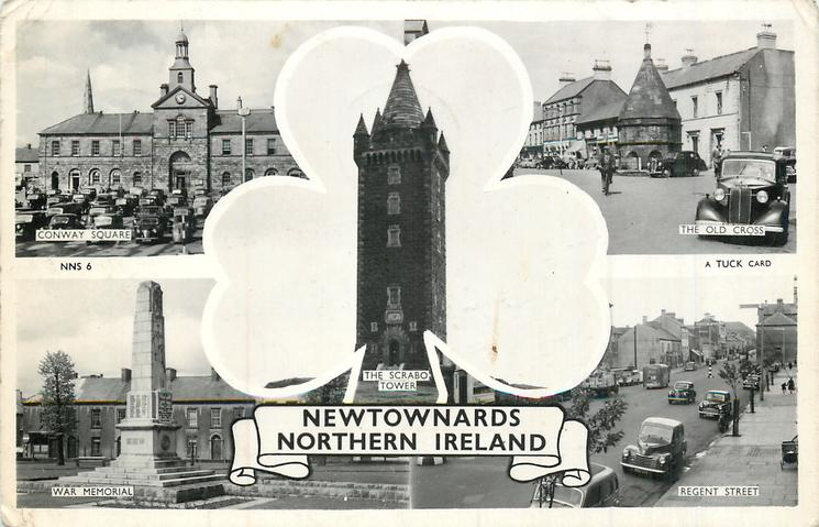 5 insets CONWAY SQUARE/THE OLD CROSS/THE SCRABO TOWER/WAR MEMORIAL/REGENT STREET
