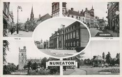 5 insets ABBEY STREET/MARKET PLACE/COUNCIL HOUSE/ST. NICHOLAS CHURCH/RIVERSLEY PARK