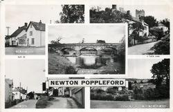 5 insets  THE POST OFFICE/HARPFORD/THE RIVER OTTER/THE BANK/NEWTON POPPLEFORD FROM THE MAZE ACRE