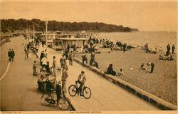 THE PROMENADE, WESTON  cyclists front left