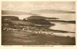 GOLF COURSE, GANAVAN BAY AND MAIDEN ISLAND