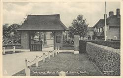 ENTRANCE, NORTH MEMORIAL HOMES