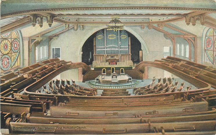 INTERIOR, FIRST METHODIST CHURCH