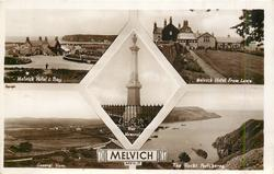 5 insets MELVICH HOTEL & BAY/MELVICH HOTEL FROM LAWN/WAR MEMORIAL/GENERAL VIEW/THE ROCKS PORTSKERRA