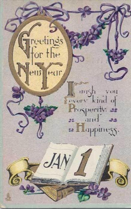 GREETINGS FOR THE NEW YEAR  JAN 1