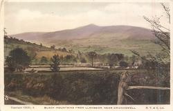 BLACK MOUNTAINS FROM LLANBEDR, NEAR CRICKHOWELL