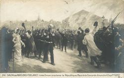 """""""JULES SIMON PROCLAME LA REPUBLIQUE, PLACE DE LA CONCORDE DIMANCHE 4 SEPTBRE 1870."""" LL"""