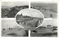 5 insets NORTH CLIFF/SOUTH BEACH/SEA FRONT AND PROMENADE/PROMENADE AND GARDENS/BOATING LAKE