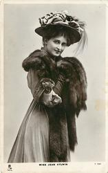 MISS JEAN AYLWIN in furs & long gloves