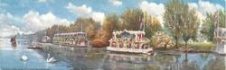 THE RIVER THAMES HOUSEBOATS NEAR HAMPTON COURT