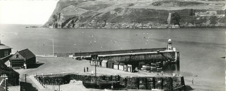 BRADDA HEAD AND THE HARBOUR, PORT ERIN, I.O.M.