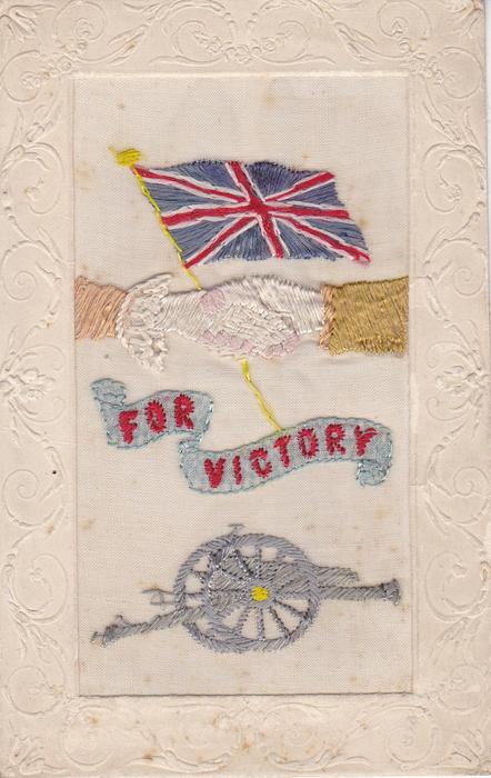 FOR VICTORY  Union Jack, field gun and handshake