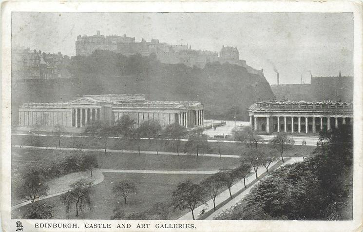 EDINBURGH, CASTLE AND ART GALLERIES