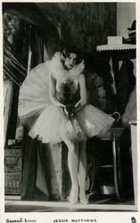 JESSIE MATTHEWS  standing in dance costume