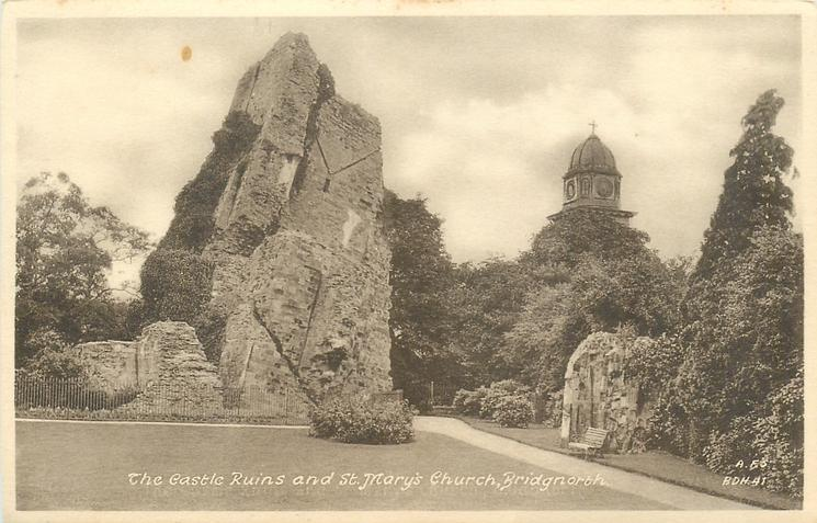 THE CASTLE RUINS AND ST. MARY'S CHURCH